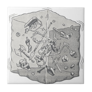 Gelatinous Cube B&W Small Square Tile