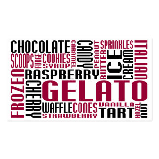 gelato (chit chat) business card
