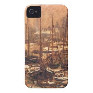 Geldersekade of Amsterdam Invierno by Claude Monet iPhone 4 Covers