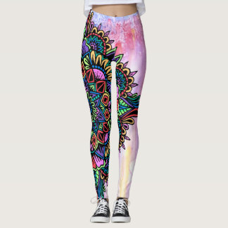 Gelly Roll Mandala w/ Watercolor Leggings