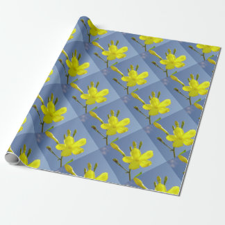 Gelsemium Sempervirens Isolated on Blue Sky Wrapping Paper