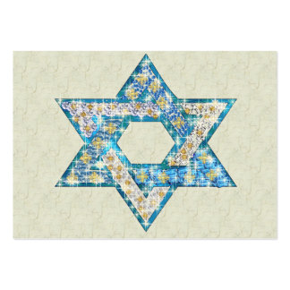 Gem decorated Star of David Large Business Cards (Pack Of 100)