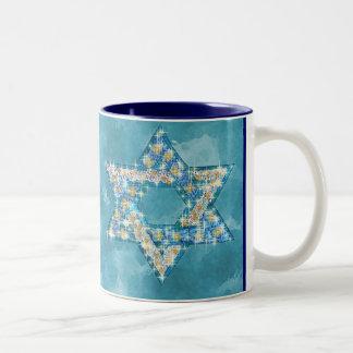 Gem decorated Star of David Two-Tone Mug