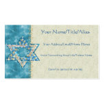 Gem decorated Star of David Pack Of Standard Business Cards