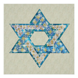 Gem decorated Star of David Poster