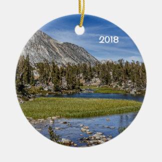 Gem Lakes, California Ceramic Ornament