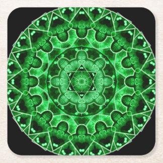 Gem Star Mandala Square Paper Coaster