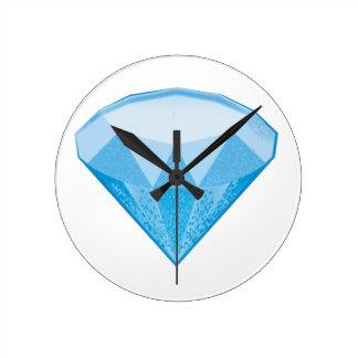 Gem Stone Emoji Round Clock