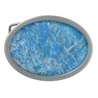 Gem Stone Pattern, Blue Granite Belt Buckle