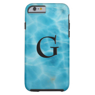 Gem Stone Pattern, Blue Larimar & Black Onyx Tough iPhone 6 Case