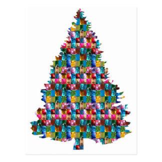 GEM studded XMAS Tree :  Merry Christmas Postcard