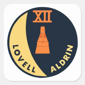 Gemini 12 Lovell and Aldrin Square Sticker