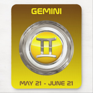 Gemini Astrological Sign Mouse Pad
