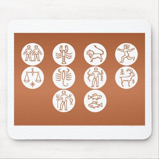 GEMINI Astrology Zodiac Symbol Mouse Pad