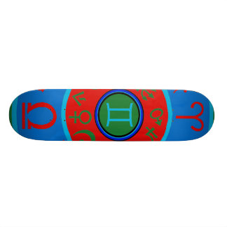 Gemini Birth Sign Astrological Skateboard