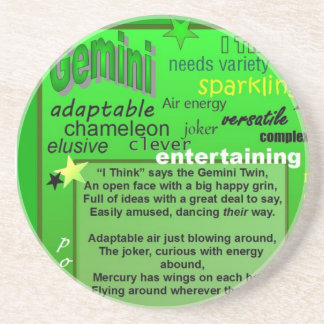 GEMINI BIRTHDAY DRINK COASTER