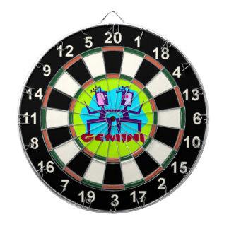 Gemini Cartoon Zodiac Astrology design Dartboard