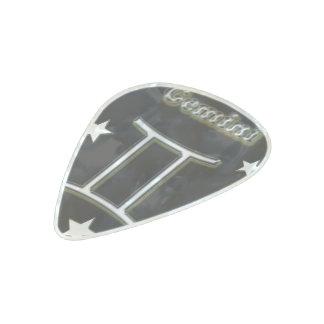 Gemini chrome symbol pearl celluloid guitar pick