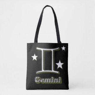 Gemini chrome symbol tote bag