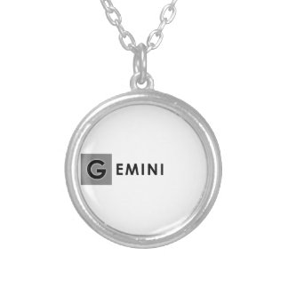 GEMINI COLOR SILVER PLATED NECKLACE