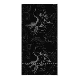 Gemini Constellation Map Engraving by Hevelius Personalised Photo Card
