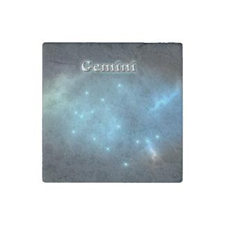 Gemini constellation stone magnet
