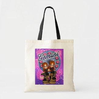 Gemini Cute Zodiac Bag With Twin Girls