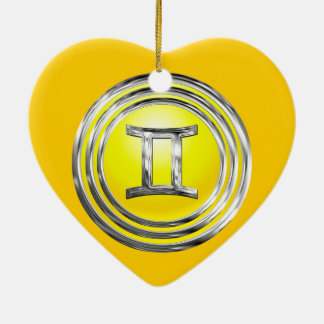 Gemini Ceramic Heart Decoration