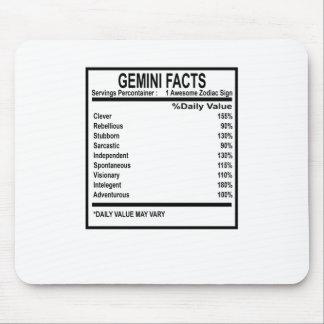 GEMINI FACTS DISCRIPTION . MOUSE PAD