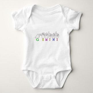GEMINI FINGERSPELLED ASL NAME ZODIAC SIGN BABY BODYSUIT