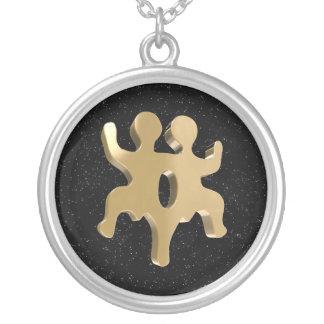 Gemini, Gemelli Round Pendant Necklace