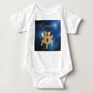 Gemini golden sign baby bodysuit