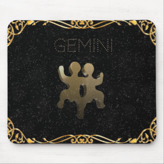 Gemini golden sign mouse pad