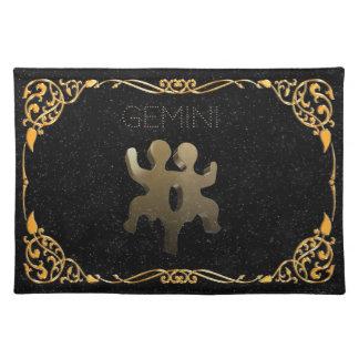 Gemini golden sign placemat