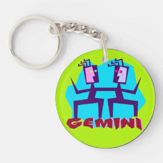 Gemini Horoscope Kodiak Sign Key Chain