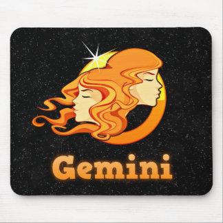Gemini illustration mouse pad