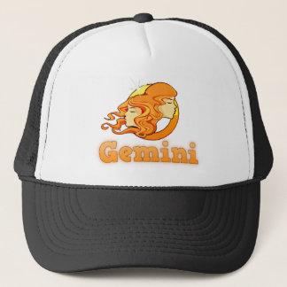 Gemini illustration trucker hat