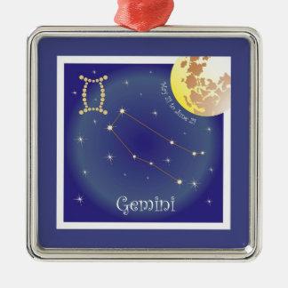 Gemini May 21 tons of June 21 ornamentation Metal Ornament