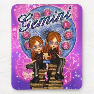 Gemini Mousepad / Mousemat With Cute Twin Girls