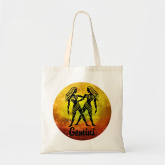 Gemini On Space Background Tote Bag