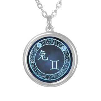 Gemini/Rabbit Silver Plated Necklace