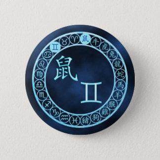 Gemini/Rat 6 Cm Round Badge