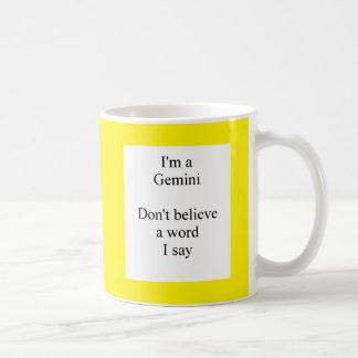 Gemini sun sign humor mug