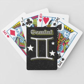 Gemini symbol bicycle playing cards