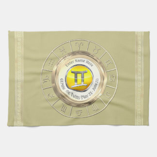 Gemini - The Twins Astrological Sign Tea Towel