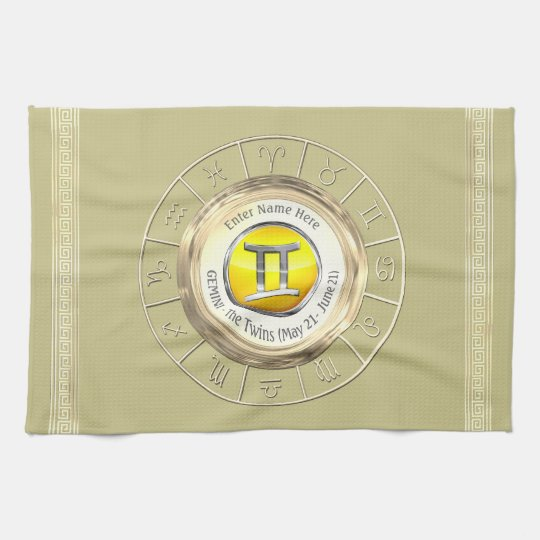 Gemini - The Twins Astrological Sign Tea Towel