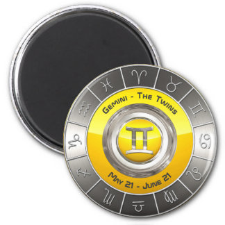 Gemini - The Twins Horoscope Symbol Magnet