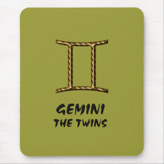 Gemini the twins mousepad