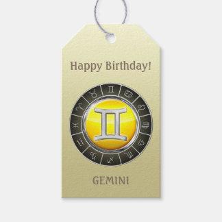 Gemini - The Twins Zodiac Sign Gift Tags