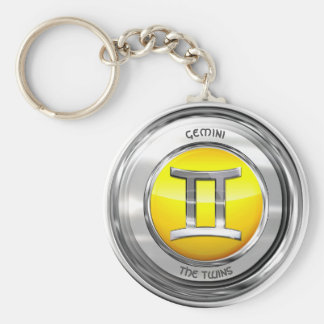 Gemini - The Twins Zodiac Sign Key Ring